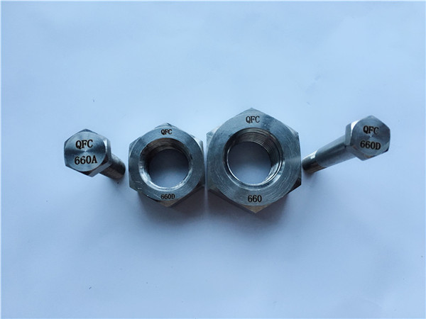 alloy 660 hex bol û hêstir, fasteners din1.4980